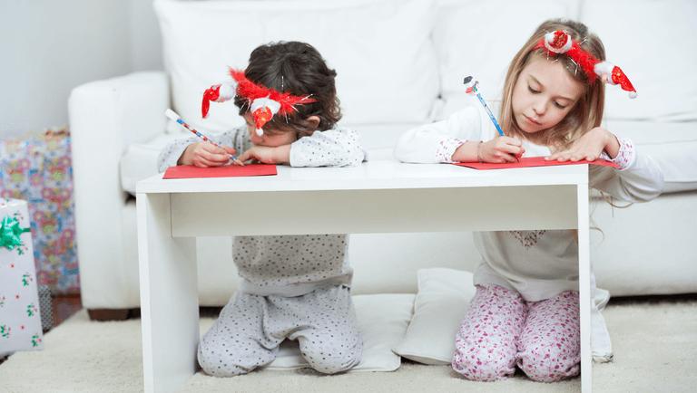 дети пишут письмо деду морозу