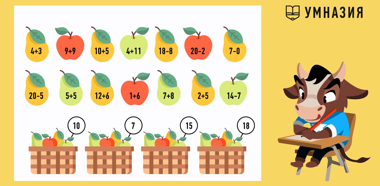 математические игры с фруктами