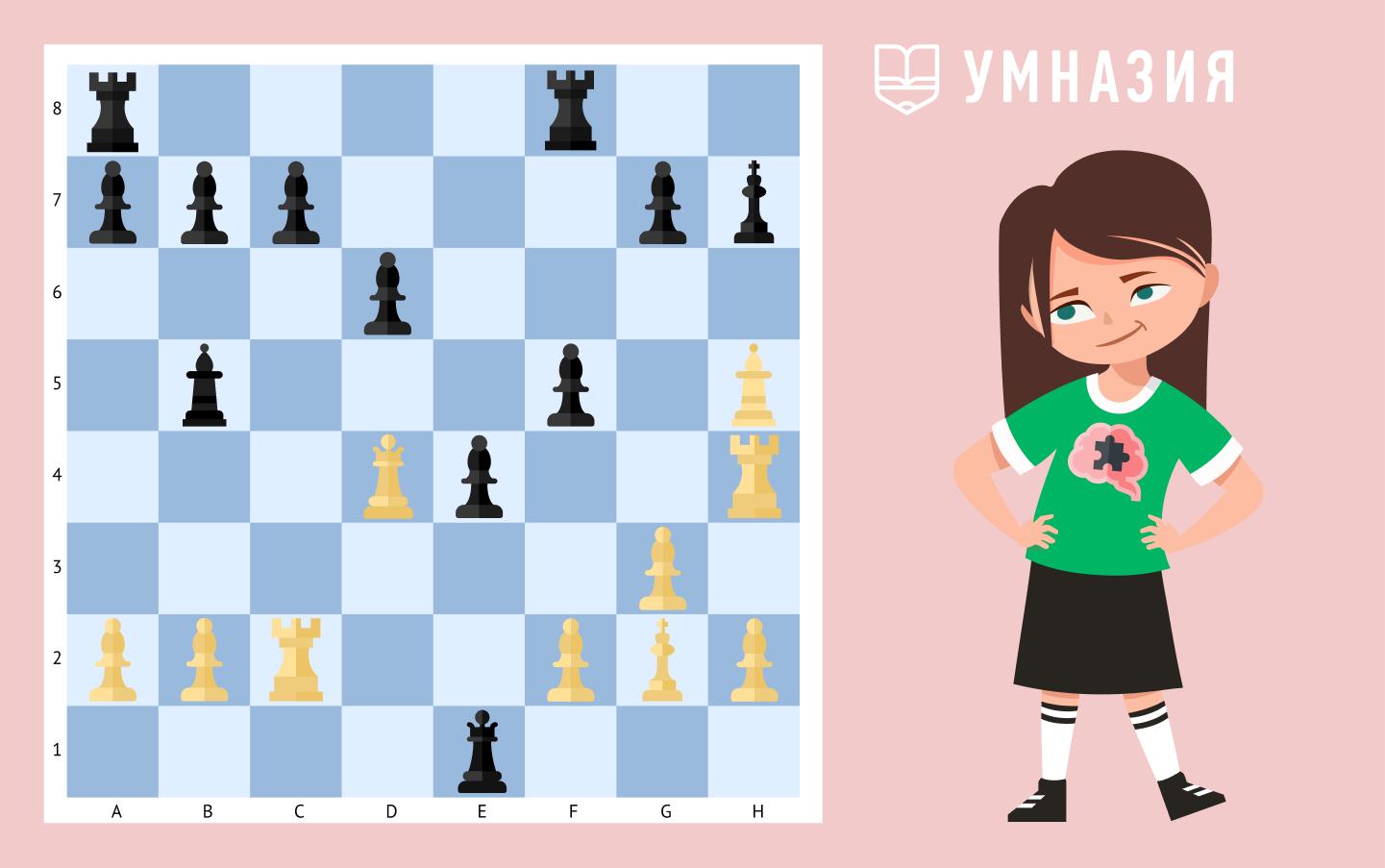 легкая шахматная задача в один ход