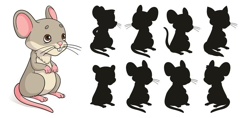 найди подходящую тень для мышонка
