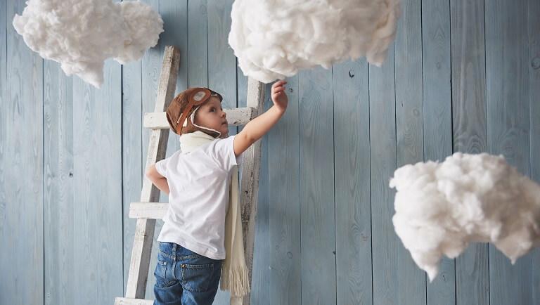 ребенок с развитым воображением