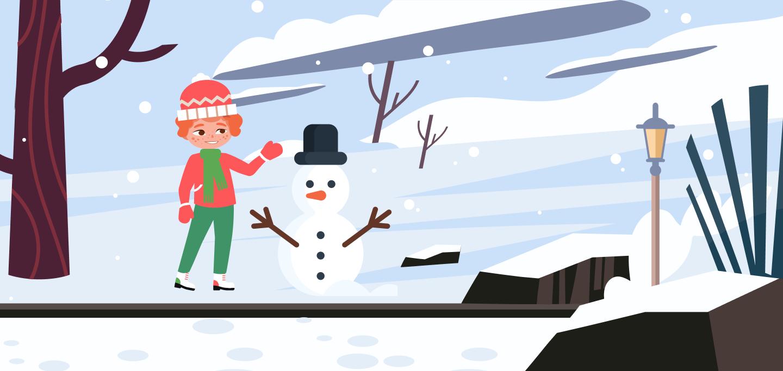время года зима для детей