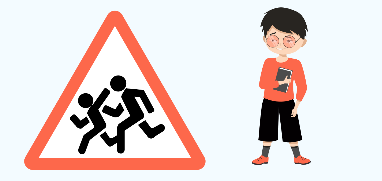 знак осторожно дети