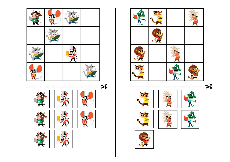 судоку для детей в картинках простое