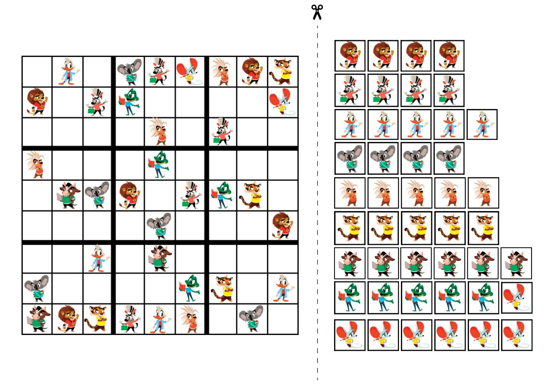 судоку в картинках 9 на 9 простое